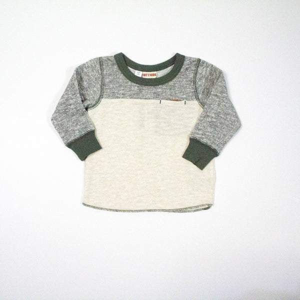color block sweat shirt