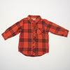 plaid flannel shirt- red