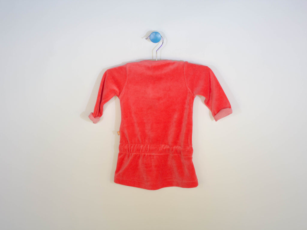 velour coral dress