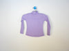 ribbed mock turtleneck lavender