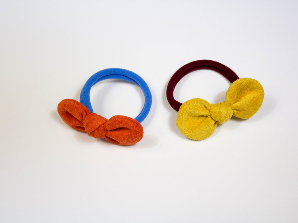 mini bow hair elastic