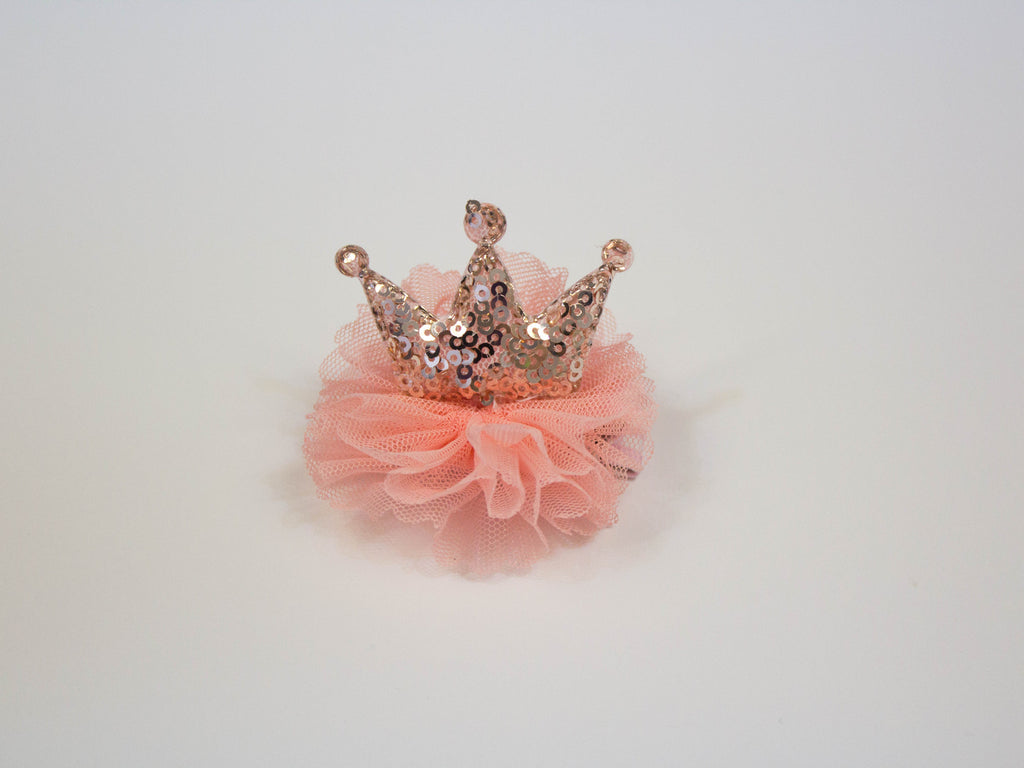 princess crown duck clip- rose gold
