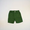 pull on linen shorts- green