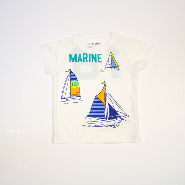 sailboat marine tee- white