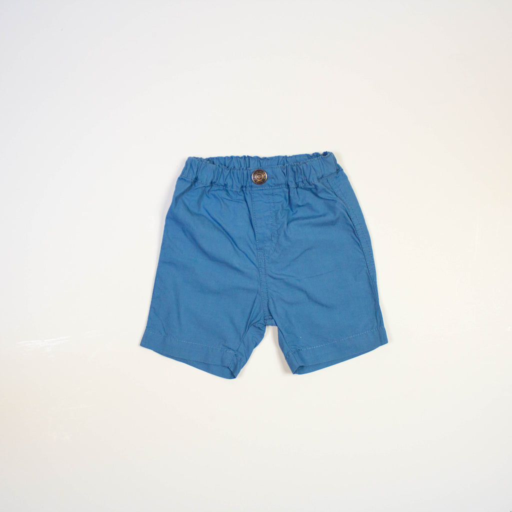 pull on shorts- blue