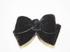 velvet bow duck clip- black