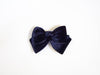 velvet bow duck clip- navy
