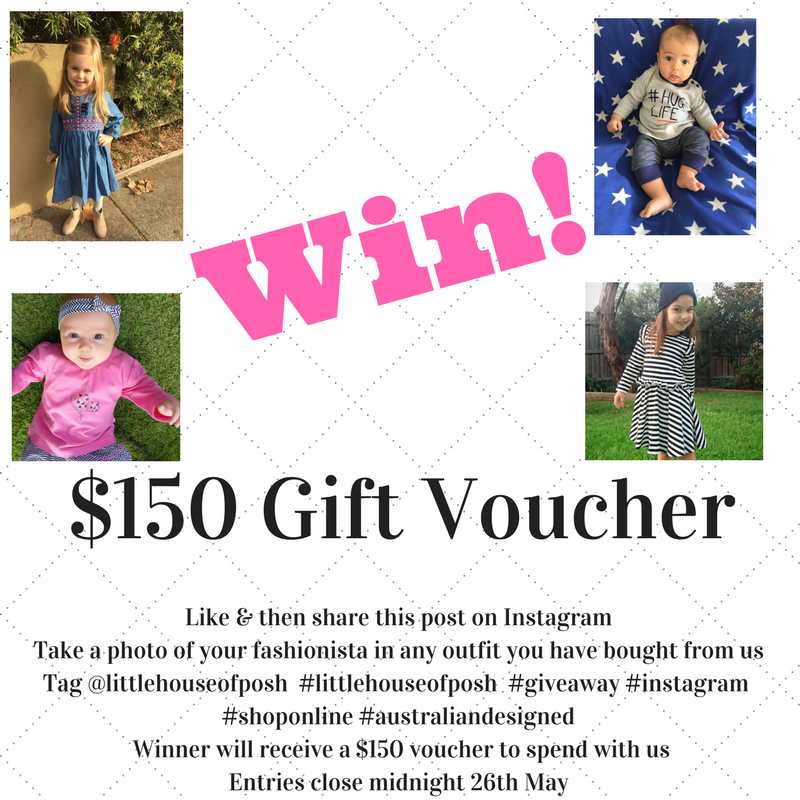 Little House Of Posh Instagram Competition - Win $150 Gift Voucher