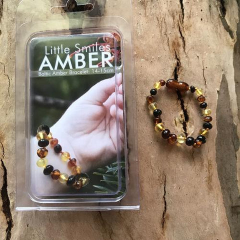 Amber Teething Dark Multi Bracelet