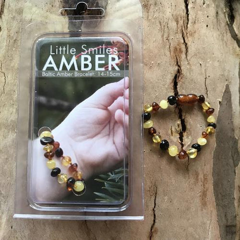 Amber Teething Multi Bracelet & Anklet