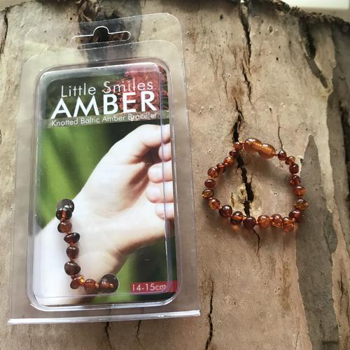 Amber Teething Classic Brown Bracelet