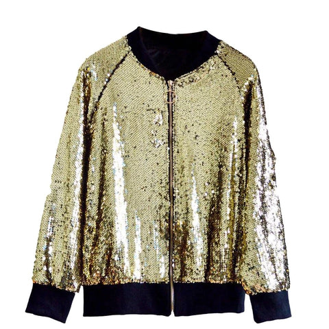 """Golden"" Sequin Jacket"
