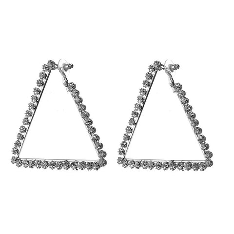 Trapezoid Hoop Earrings