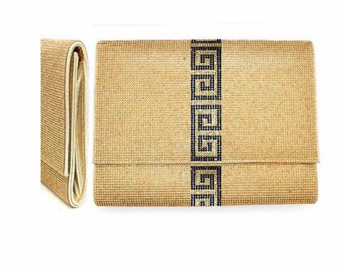 Quarter To Nine Clutch (Gold)