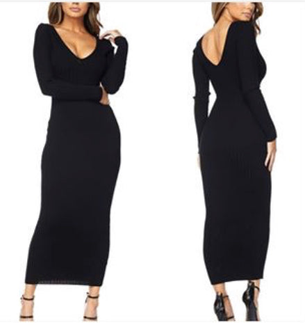 """Sasha"" Knit Midi Dress"