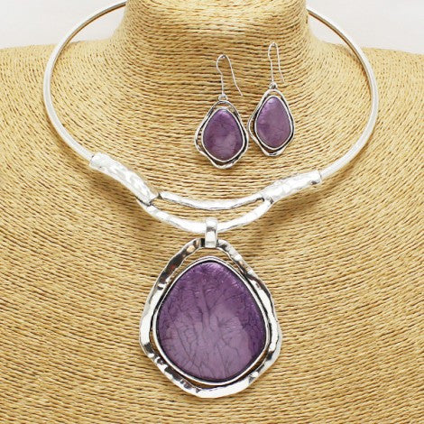 Passion Purple Necklace Set - Treasures By Blondie Boutique