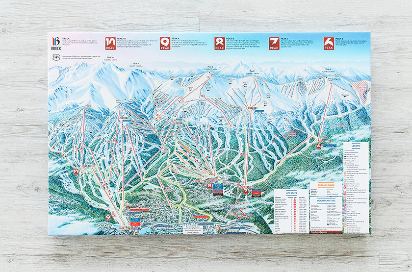 Ski Resort Trail Maps for Your Home or Office on