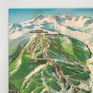Beaver Creek Resort Map 1981 (Colorado)