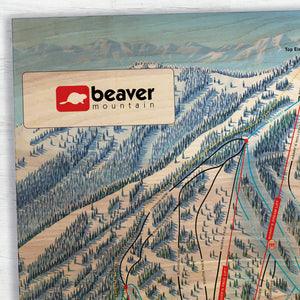 Beaver Mountain Resort Map (Utah)