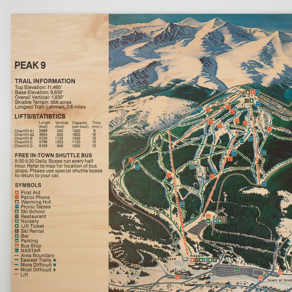 Breckenridge Resort Map 1980