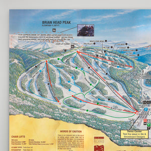 Brianhead Resort Map 1998