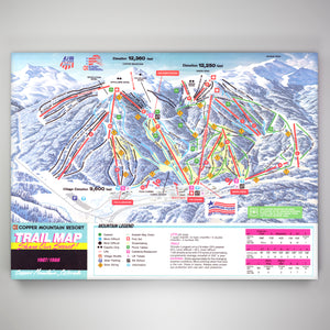 Copper Mountain Resort Map 1987