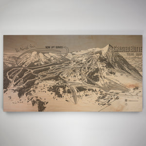 Crested Butte Resort Map 1982