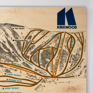 Kirkwood Resort Map 1976