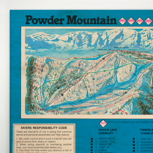 Powder Mountain Resort Map 1987