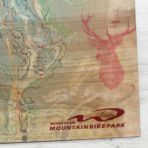 Whistler Blackcomb Mountain Bike Park Resort Map