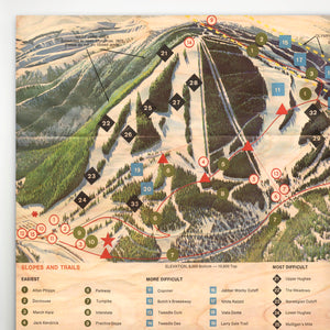 Winter Park Resort Map 1974