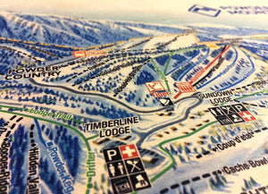 maple wood printed powder mountain map closeup runs wood grain