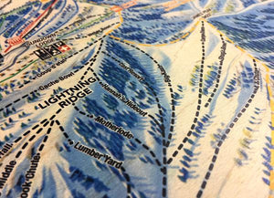 maple wood printed powder mountain map closeup runs wood grain 2