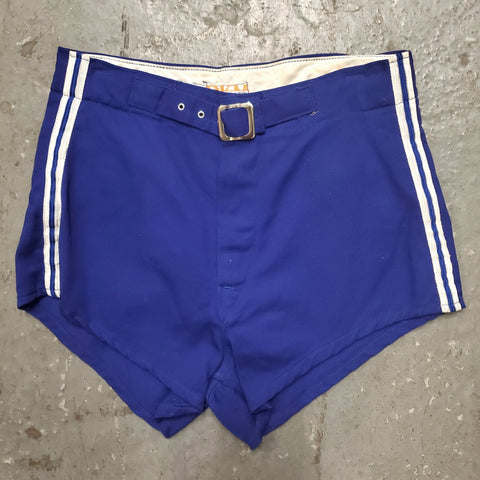 Vintage 1960s 1970s DETROIT KNITTING MILLS Athletic Buckle Waist Short Shorts