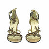 RARE Designer Vintage 1990s PRADA Vine Leaf Branch High Heel Sandals Shoes
