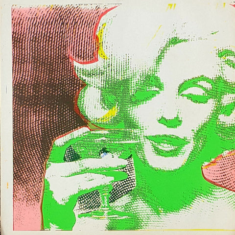 RARE Double Sided Original Serigraph Art Print #2: Marilyn Monroe by Bert Stern 1968 for EROS Magazine
