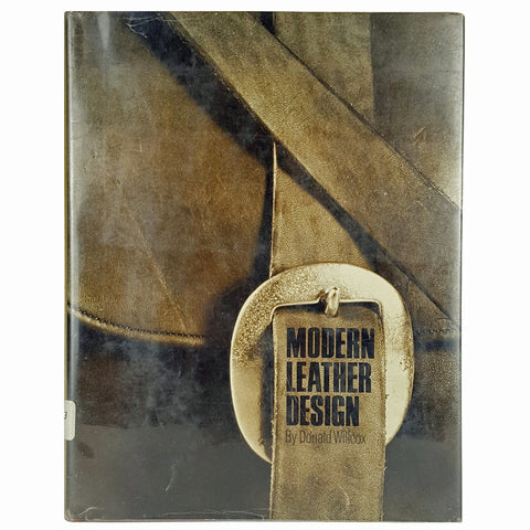RARE Out of Print Vintage Book MODERN LEATHER DESIGN