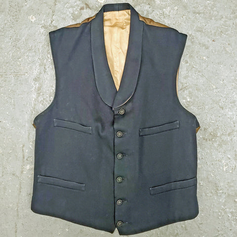 RARE Period Vintage 1920s 1930s Edwardian Victorian Men's Lined Wool Waistcoat Vest