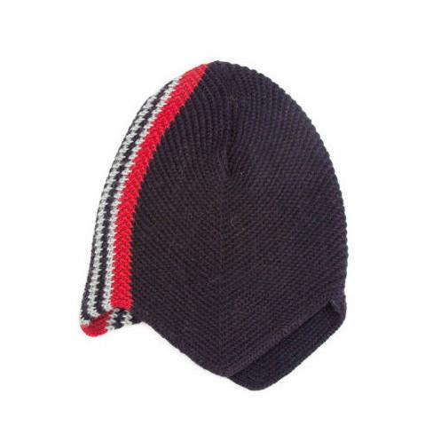 RARE Vintage 1940s Ribbed Wool Sweater Knit Helmet Cloche