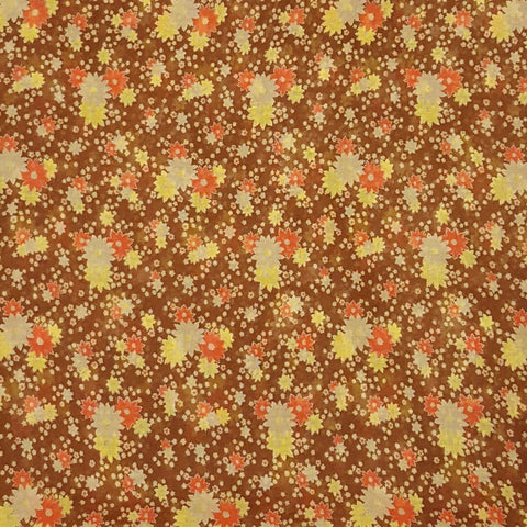 RARE Vintage 1940s NOS Ditsy Floral Cotton Fabric Yardage (4 Yards)