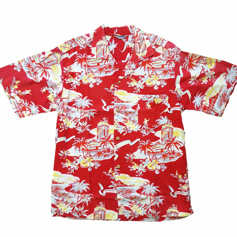 RARE Vintage 1950s Men's Conversational Hawaiian SS Shirt