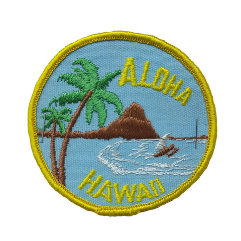 RARE Vintage 1960s NOS ALOHA HAWAII Embroidered Souvenir Travel Patch