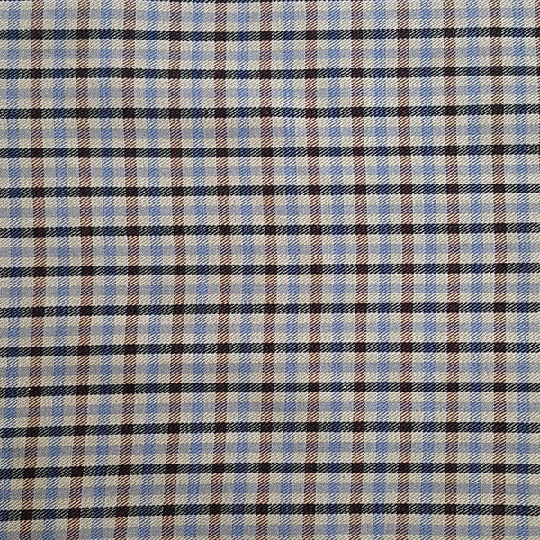Vintage 1960s Classic Plaid Cotton Fabric Yardage (1 Yard)