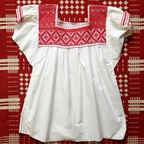 Vintage 1960s Handmade Ethnic Embroidery Peasant Top