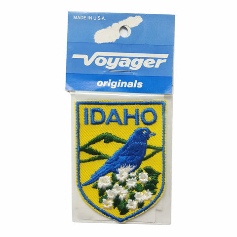 Vintage 1960s NOS IDAHO STATE Patch in Package DIY Denim Jeans Jackets