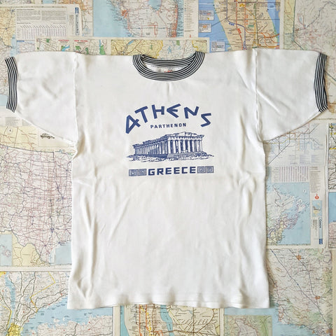 Vintage 1980s 'ATHENS GREECE PARTHENON' Coffee Cup T-Shirt