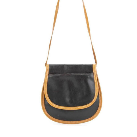 Vintage 1990s Small Flap Front Cross Body Shoulder Bag