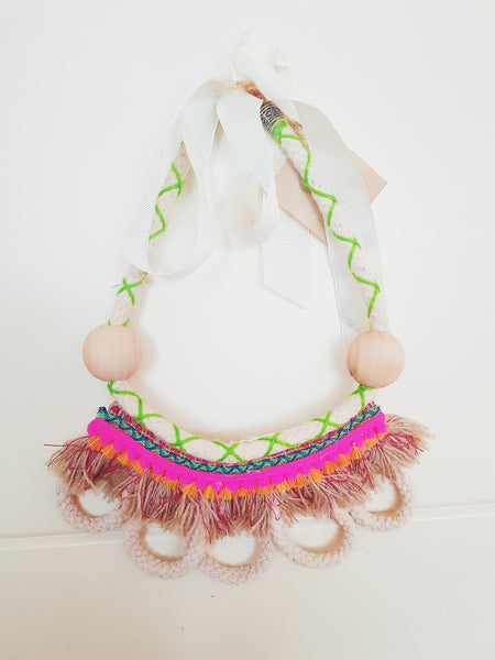 Fringe Necklace - Pink