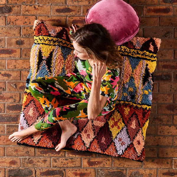DWELLER WOOL SHAG FLOOR CUSHION