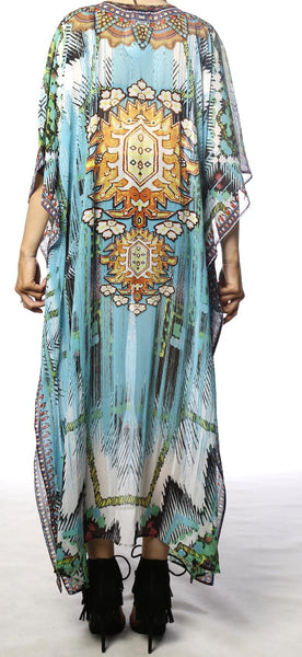 SeaBreeze - Long V Neck Kaftan - OSFM